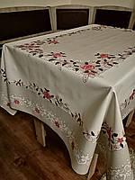 Скатерть(клеенка)   для стола на тканевой основе с блестком 120*150 см