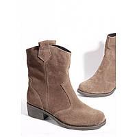 Замшевые ботинки с широким голенищем(2 цвета)