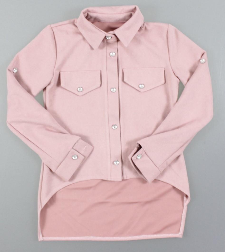 {есть:152} Рубашка замшевая для девочек, 128-164 рр. Артикул: 5239