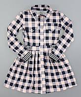 {есть:128} Платье-рубашка для девочек,  Артикул: 5225-розовый, фото 1