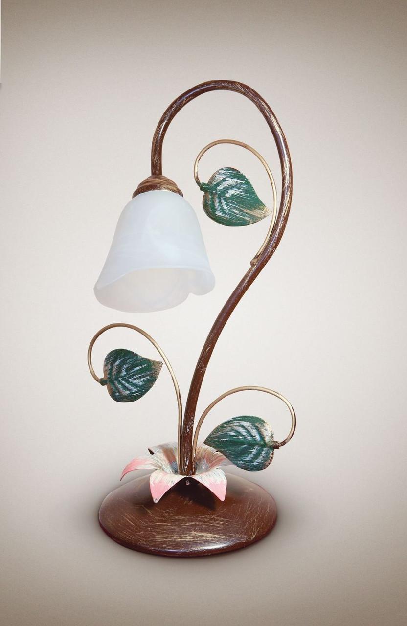 Настольная лампа металлическая, флористика  16100-1