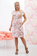 Платье Мадонна веточка бежевый, фото 1
