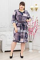 Платье квадрат сиреневый, фото 1