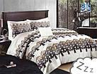 Комплект постельного белья Микроволокно HXDD-825 M&M 8288 Белый, Коричневый, Серый, фото 2