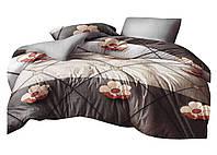 Комплект постельного белья Микроволокно HXDD-829 M&M 8301 Коричневый, Бежевый
