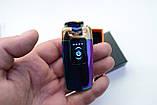Электроимпульсная зажигалка в подарочной упаковке Lighter (Двойная молния, USB) №HL-40 Хамелеон, фото 2