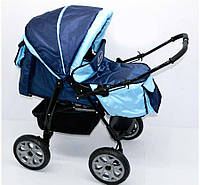 Коляска для детей Viki 86- С-14темно-синий с голубым