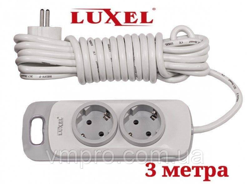 Мережевий подовжувач Luxel Nota 2 розетки з заземленням