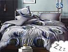 Комплект постельного белья Микроволокно HXDD-820 M&M 8318 Серый, фото 2