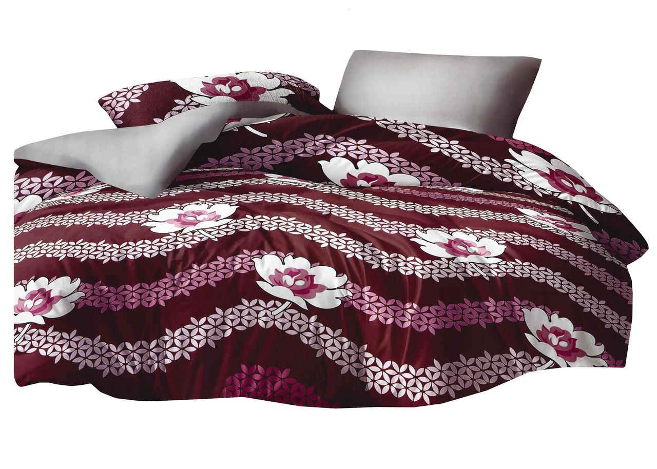 Комплект постельного белья Микроволокно HXDD-827 M&M 8325 Красный, Белый