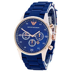 Наручные часы Emporio Armani Silicone Gold-Blue