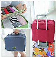 Дорожная сумка органайзер для путешествий с ручкой на чемодан, фото 1