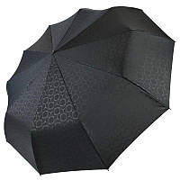 Автоматический зонт Три слона на 10 спиц, черный цвет, 333-1