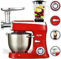Кухонний комбайн 7.5 л чаша DMS 3 в 1 2100W RED