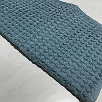 Готовое хлопковое полотенце бирюзового цвета 32х69 см