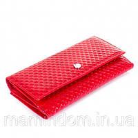 Женский Кожаный кошелек красный  Red Кария . Подарок на 14 февраля, день святого валентина