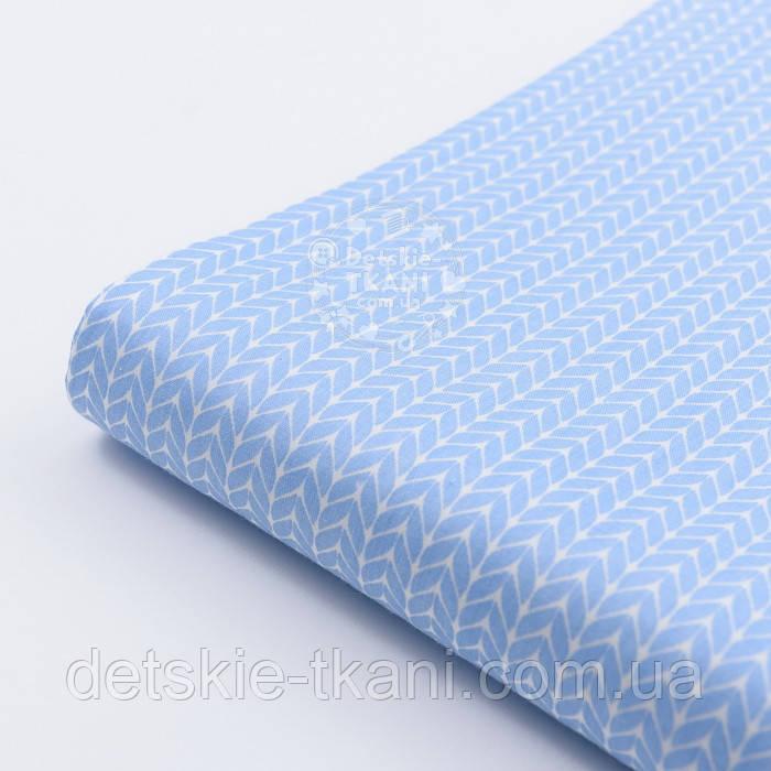 """Лоскут сатина  """"Свитерок"""" голубого цвета, № 2433с, размер 40*80 см"""