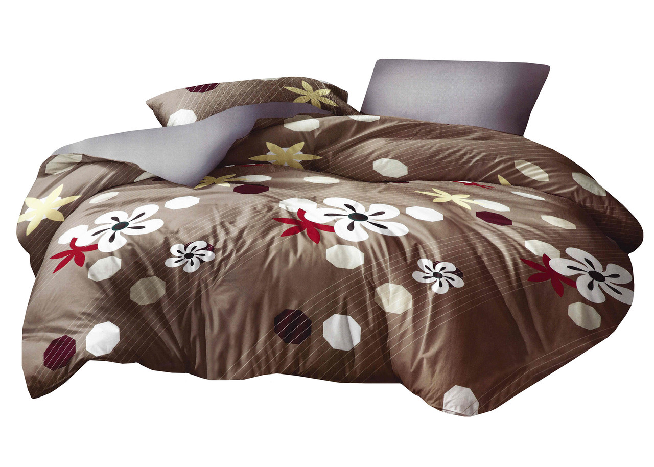 Комплект постельного белья Микроволокно HXDD-815 M&M 8394 Бежевый