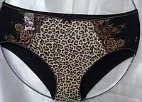 Женские трусы леопард широкий бок