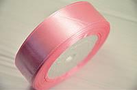 Атласная лента розового цвета 2,5 см (рулон 23 м)