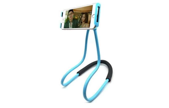 Подставка держатель для телефона, держатель на прищепке универсальный на шею, фото 2