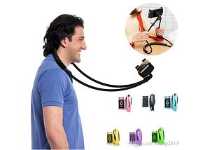 Подставка держатель для телефона, держатель на прищепке универсальный на шею, фото 3