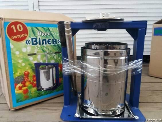 Пресс для сока механический Вилэн 10 литров