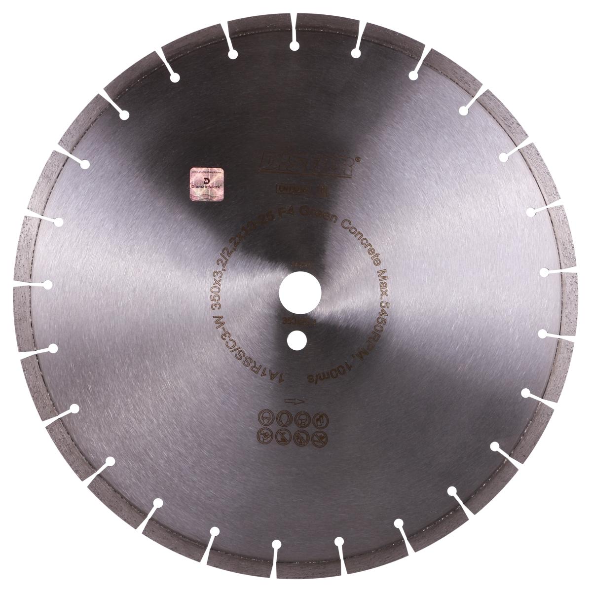 Круг алмазний відрізний 1A1RSS / C3-W 350x3,2 / 2,2x10x25,4-25 F4 Green Concrete