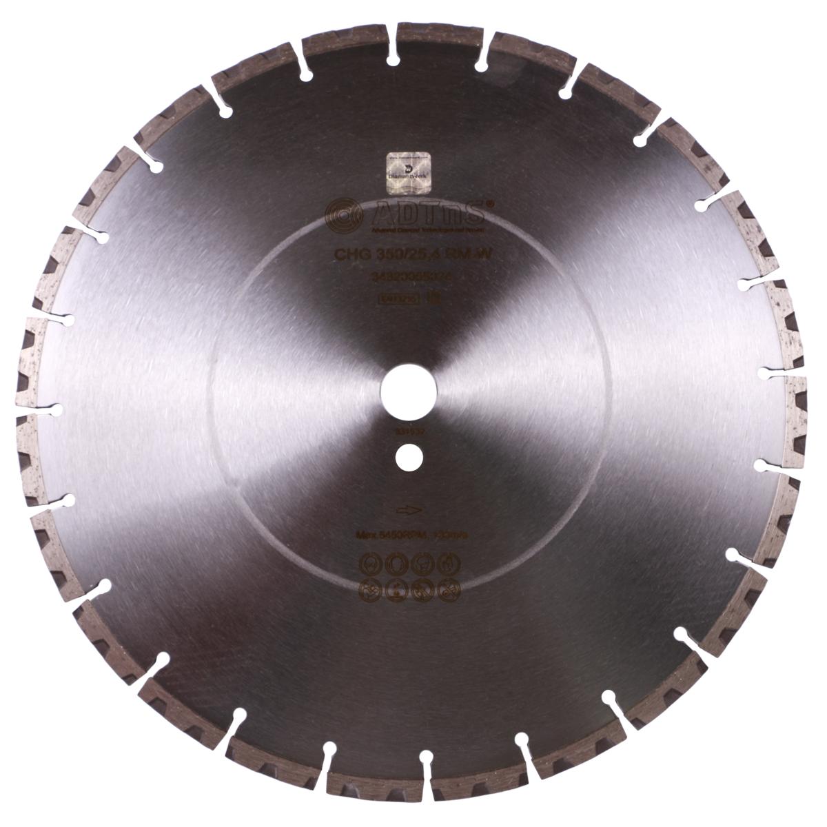 Круг алмазний відрізний 1A1RSS / C3-H 350x3,5 / 2,5x10x25,4-24 F4 CHG 350 / 25,4 RM-W