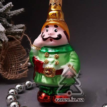 Стеклянная елочная игрушка Пожарный 135/с, фото 2