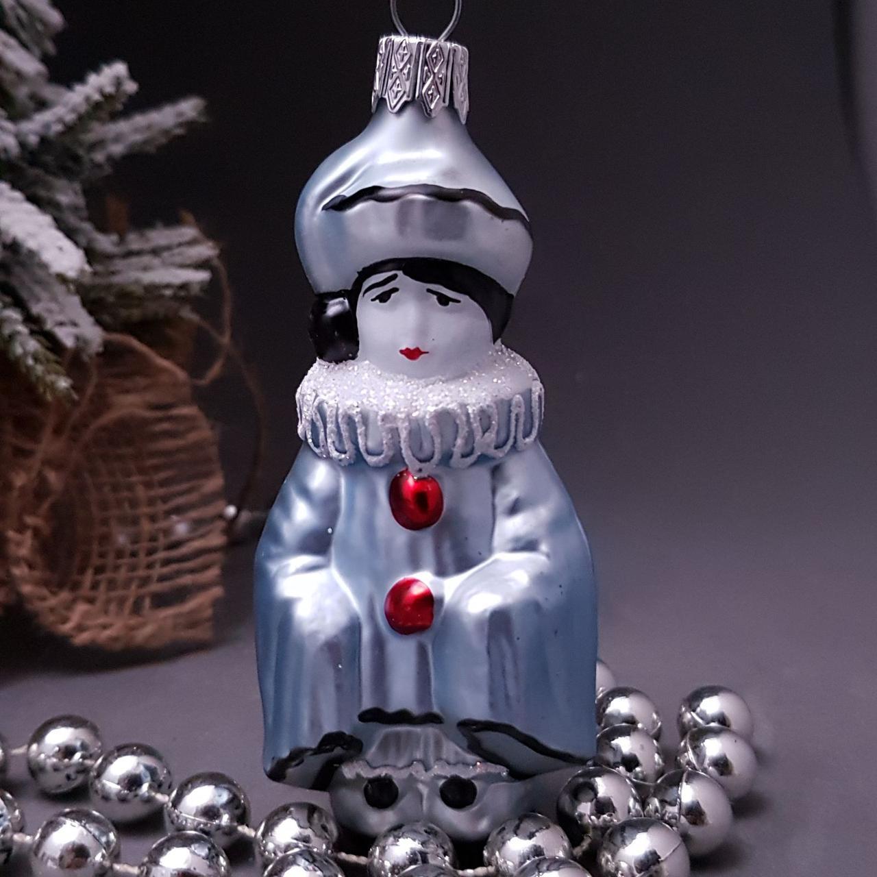 Стеклянная елочная игрушка Пьеро 193/с