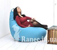 Чехол на кресло мешок пуф грушу синий
