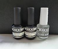 Набор База Окси Oxxi 15 ml + Топ Oxxi с липким слоем 15 ml + Ultrabond Oxxi 15 ml