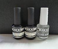 Набор База Oxxi 15 ml + Топ Oxxi No wipe (без липкого слоя) 15 ml + Ultrabond Oxxi 15 ml