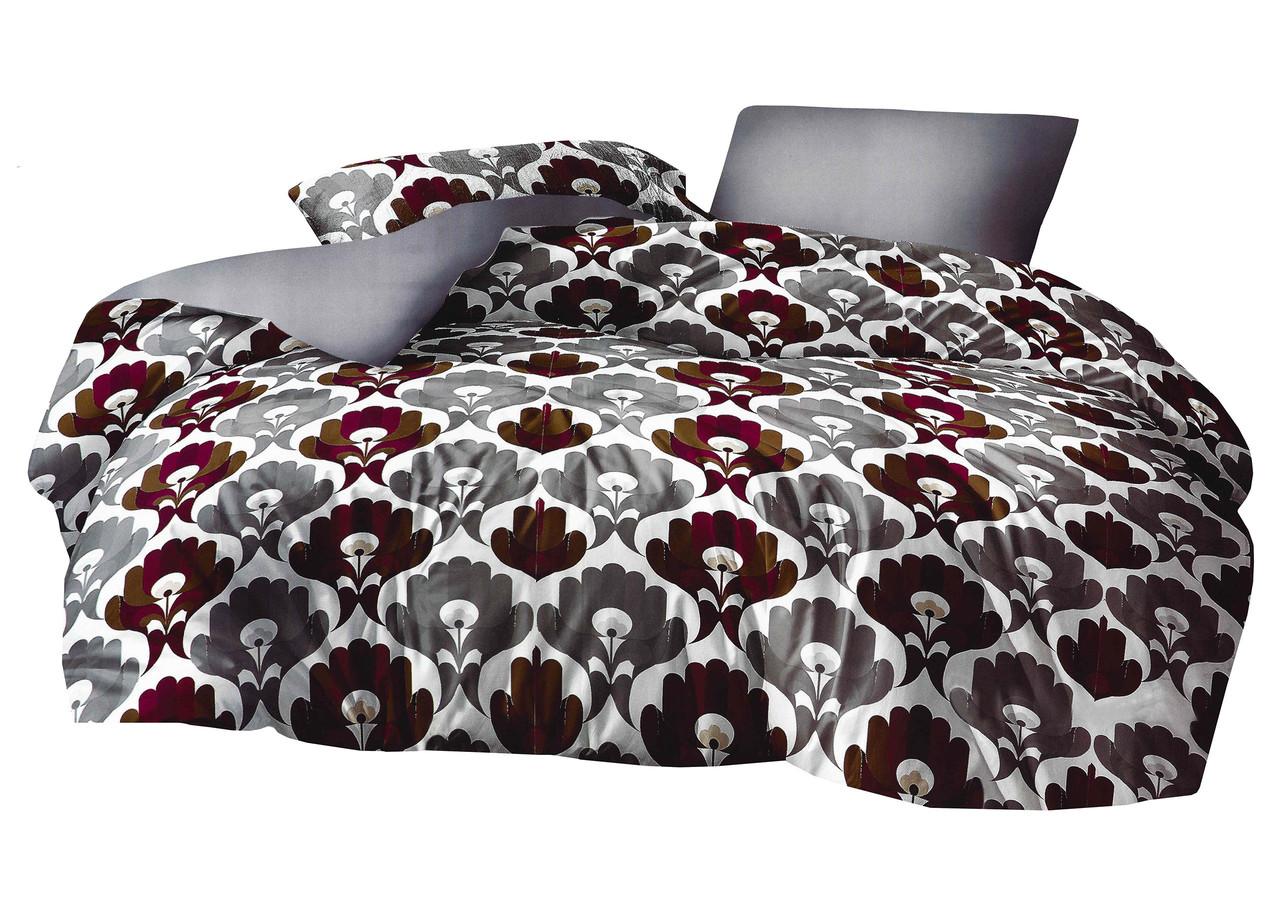 Комплект постельного белья Микроволокно HXDD-817 M&M 8448 Серый, Коричневый, Белый