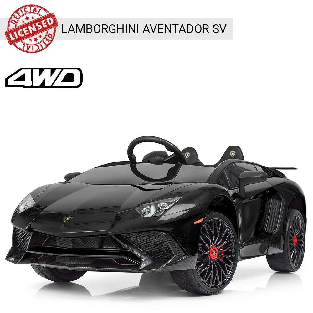 Детский электромобиль Lamborgini Avendator SV  M 3903EBLR-2 Черный