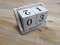 Деревянный календарь «Белый»