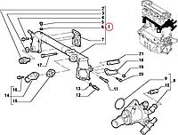 Трубка системы охлаждения Fiat Doblo 1.9D Оригинал (Fiat/Alfa/Lancia) 46529298