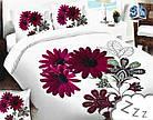 Комплект постельного белья Микроволокно HXDD-823 M&M 8561 Белый, Розовый, фото 2