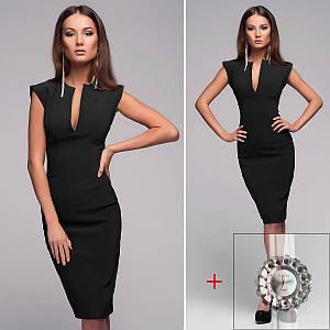 Черное платье (Код MF-427) + Часы в подарок!