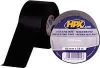 Лента ПВХ изоляционная HPX 52300 50 мм х 33 м черная (пленка) IB5033