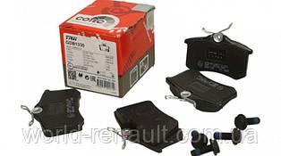 TRW GDB1330 / Комплект задних тормозных колодок Рено Меган 4 (с механическим ручником)