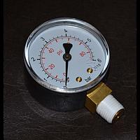 Манометр для автоклава, шкала 6 бар/атмосфер, аналоговый