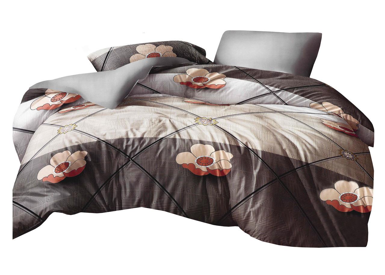 Комплект постельного белья Микроволокно HXDD-829 M&M 8592 Коричневый, Бежевый