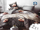 Комплект постельного белья Микроволокно HXDD-829 M&M 8592 Коричневый, Бежевый, фото 2