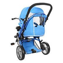 Велосипед колясочний дитячий триколісний Turbo Trike M AL3645-12 синій, фото 2