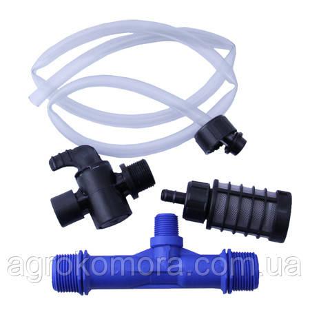 """Інжектор 2"""" типу «Вентурі» Plastica Alfa (Італія) з набором для внесення добрив"""