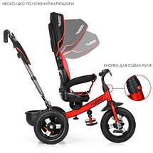 Велосипед колясочный Turbo Trike M 4059-3 красно-черный поворотное сиденье, фото 2