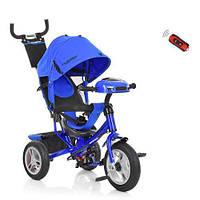 Трехколесный детский велосипед колясочный Turbo Trike M 3115HA-14 со светом и звуком