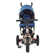 Велосипед детский Turbo Trike M 3113AJ-13 с звонком голубой джинс шоколад, фото 2